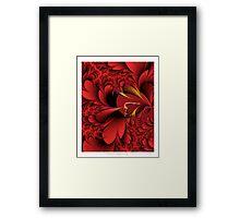 Red Fantasia Framed Print