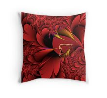 Red Fantasia Throw Pillow