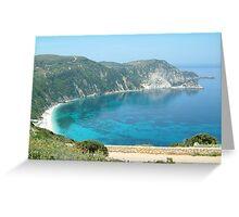 PETANI BEACH, KEFALONIA, GREECE Greeting Card