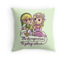 it's dangerous to play alone Throw Pillow