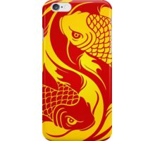 Red and Yellow Yin Yang Koi Fish iPhone Case/Skin