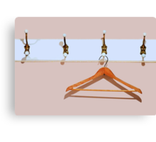 clothes hanger Canvas Print
