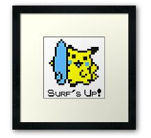 Surf's Up, Pikachu! Framed Print
