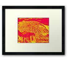 red suburbia Framed Print