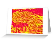 red suburbia Greeting Card