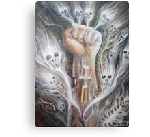 A junky's hand Canvas Print
