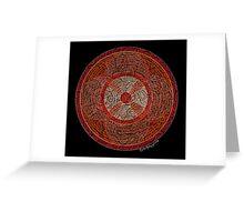 The Wheel Mandala Greeting Card