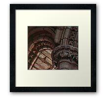 Capitals and arches Window arches in wall of church Lanercost Priory Cumbria England 19840526 0021   Framed Print