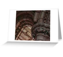 Capitals and arches Window arches in wall of church Lanercost Priory Cumbria England 19840526 0021   Greeting Card