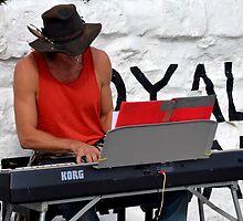 Entertaining The Folk At Lyme, Dorset.UK by lynn carter