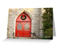 Church Doors in December Greeting Card