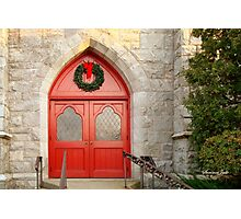 Church Doors in December Photographic Print
