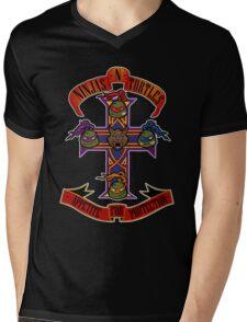 Ninjas N Turtles Mens V-Neck T-Shirt