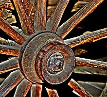 Retired Wagon Wheel by SueAnne