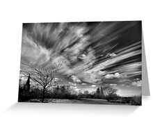 A Watched Sky Never Stops Greeting Card