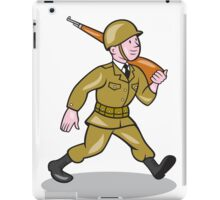 World War Two Soldier American Cartoon Isolated iPad Case/Skin