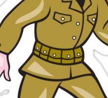 World War Two Soldier American Cartoon Isolated Sticker