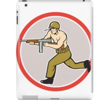 World War Two Soldier American Tommy Gun iPad Case/Skin