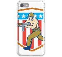 World War Two Soldier American Tommy Gun Shield iPhone Case/Skin