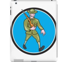 World War One Soldier British Marching Circle Cartoon iPad Case/Skin