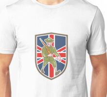 World War One Soldier British Marching Cartoon Shield Unisex T-Shirt