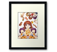 Gourmet Girl Graffiti Framed Print