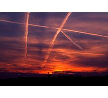 The air force plays tic tac toe with God Photographic Print