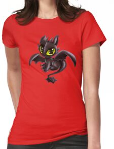 Baby Toothless Womens Fitted T-Shirt