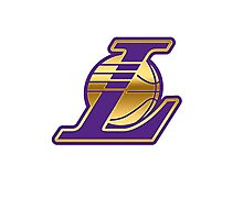 Lakers Gold & Purple Photographic Print