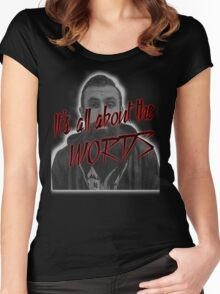 Scroobius Pip - It's all about the words print Women's Fitted Scoop T-Shirt