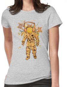 Vintage Spaceman Womens Fitted T-Shirt