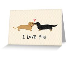 Dachshunds Love Greeting Card