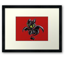 Baby Toothless Framed Print