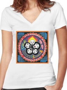 Rock and OHM Over Women's Fitted V-Neck T-Shirt