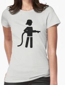 Firefighter Fireman Womens Fitted T-Shirt