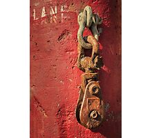 Rusty Chain On A Concrete Post Photographic Print