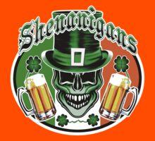 Funny Irish Leprechaun Skull Kids Clothes