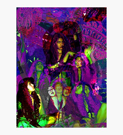 psychedelic girl Photographic Print