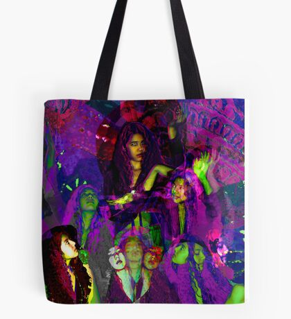 psychedelic girl Tote Bag