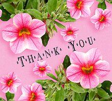 Happy Birthday - Pink Flower Border by Sheryl Kasper
