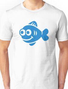 Blue comic fish  Unisex T-Shirt