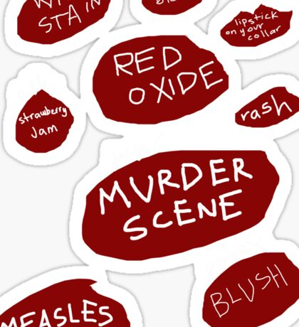 'Certain Shade of Red' Sticker
