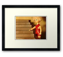 the little lady in red Framed Print
