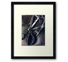 Wires and Scissors  Framed Print