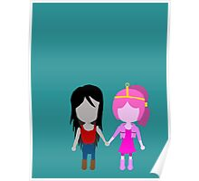 Sugarless Gum - Marceline & Bubblegum Stylized Print Poster