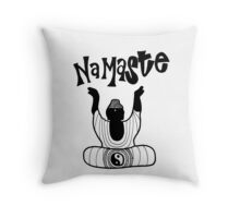 """Namaste"" Buddha Throw Pillow"