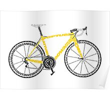 Typographic Anatomy of a Tour de France Bike Poster