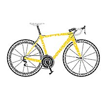 Typographic Anatomy of a Tour de France Bike Photographic Print