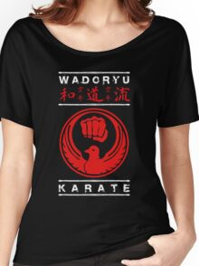 Wadoryu Karate (white text) Women's Relaxed Fit T-Shirt