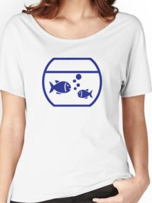 Blue Aquarium Fish Women's Relaxed Fit T-Shirt